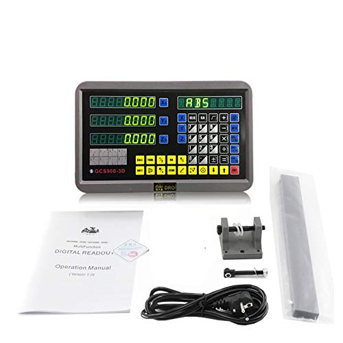 2/3 Axis Digital Readout and TTL Precision Linear Glass Scale DRO Encoder for Milling Lathe,Note: Display and Scales Sold Separately,pls Select the Size options!(3 Axis Digital Readout Display ONLY)