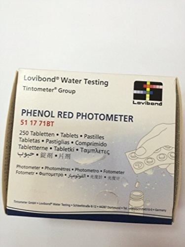 Lovibond Recambio tabletas reactivo medición Red Phenol Lvd. Recarga 250 Ud. Fotómetro/Tintometer. 51 17 71