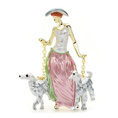 DZHT Broches de aleación para mujer, 2 colores, con forma de animal, regalo de Año Nuevo (color: B)