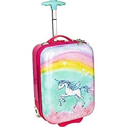 The Spiegelburg 14190 small hard shell trolley unicorn paradise