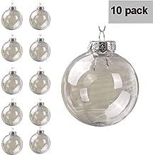 Wiivilik 10pcs 4cm Transparent remplissables Boules Transparentes remplissables Ornements Boules Sapin de No/ël D/écoration