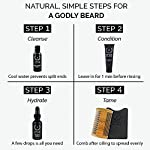 ZEUS Essential Travel Sized Beard Oil Set, Starter Kit, Cleans, Conditions, Moisturizing, Tames Hair, Aides Itchy Skin… 7