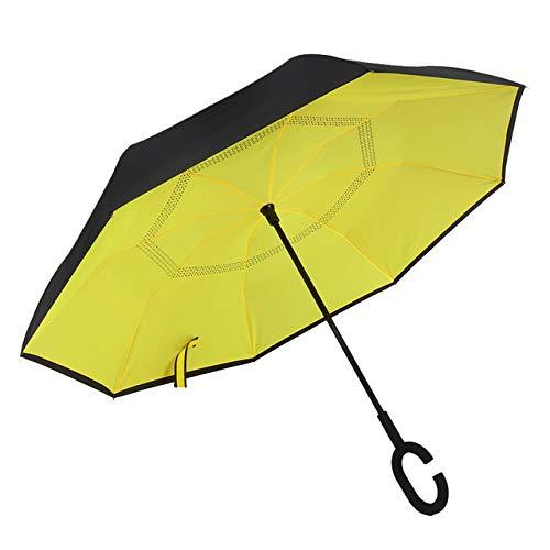 Reverse Umbrella Rain Frauen Double Layer Inverted Umbrella Sonnenschirm Windproof Rain Car Inverted Umbrellas Für Frauen Men-801, China