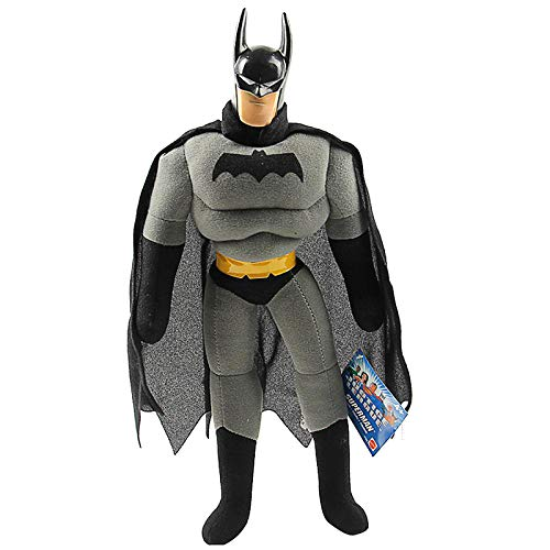 Batman Personaggi Giocattolo D'Azione Marvel's Avengers Plushies Superheros Justice League Pupazzetti Arkham Knight Bambola Giocattoli Figura da Collezione Articolato per Bambini Grey-40cm