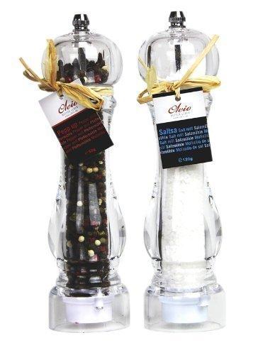 OLEIO Keramische zout- en pepermolenset kruidenmolen gevuld met zout en peper-Royal-serie