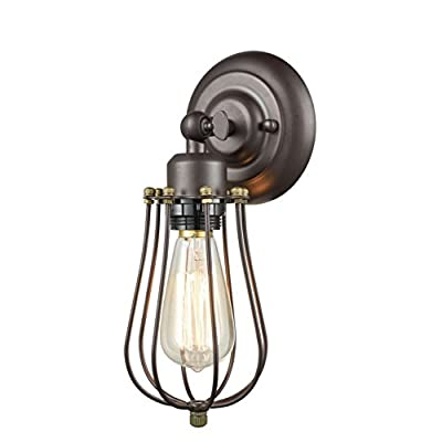 CLAXY Industrial Wire Cage Wall Sconce
