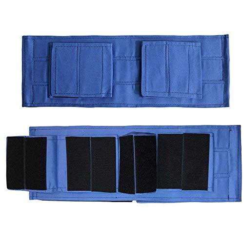 AUED Rollstuhl-Bein-Bügel, Bein Sicherheitsgurt Constrained Bands einstellbares Sicherheitsschutz-Bügel Anti-Rutsch-Anti-Fall-Beinstützen Gürtel, für Patienten ältere Patienten,Blau