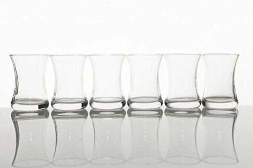 Pasabahce 1077811 theeglas set 6-delig glas voor 6 personen vaatwasmachinebestendig theeglazen service warme drank Turkse thee voor genot en ontspanning 160 ml