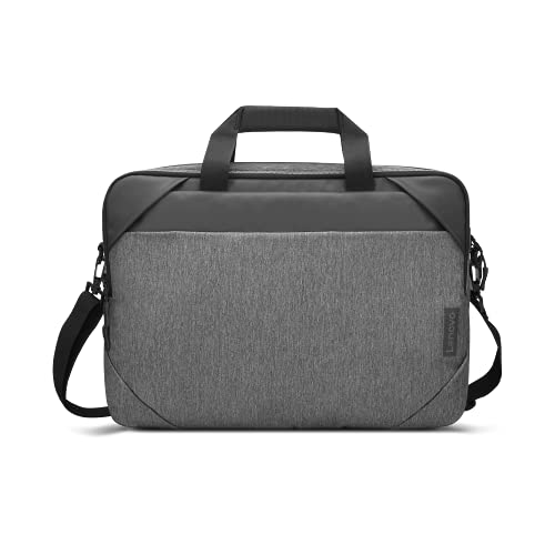 """Lenovo 15.6"""" Laptop Urban Toploader T530, Fits Up to 15.6-Inch Laptops, Water-Repellent Material, Padded PC Compartment, Zippered Workstation, On-The-Go Charging, GX40X54262, Charcoal Grey, Gray"""