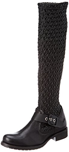 BUNKER Damen Saphy Kurzschaft Stiefel, Schwarz (Black), 42 EU