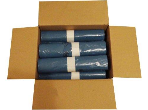 Hossi\'s Wholesale Abfallsäcke, 10 Rollen à 25 Heavy Duty Müllbeutel, Müllsäcke blau, Mülltüten extra stark, 120l, 700x1100mm