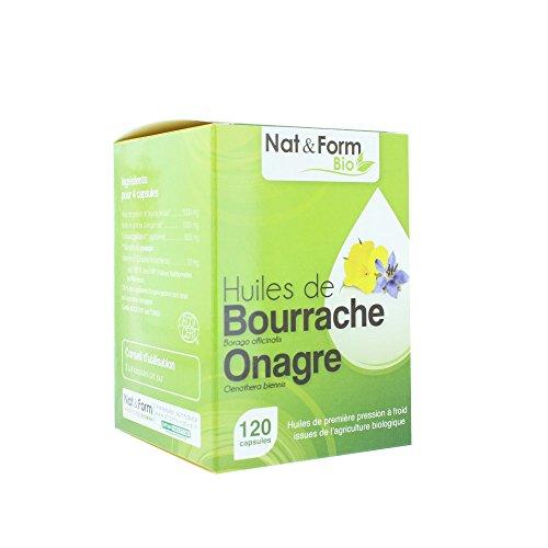 Nat & Form - Nat&form Onagre Et Bourrache Bio 120 Capsules