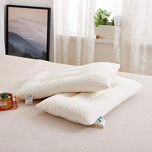 Haimian 2pcs 100% Natural, Adjustable Latex Down Alternative Pillow, Luxurious Fiber Cover, Best Sleeping Pillow to Support Head and Neck, Standard Queen Comforter