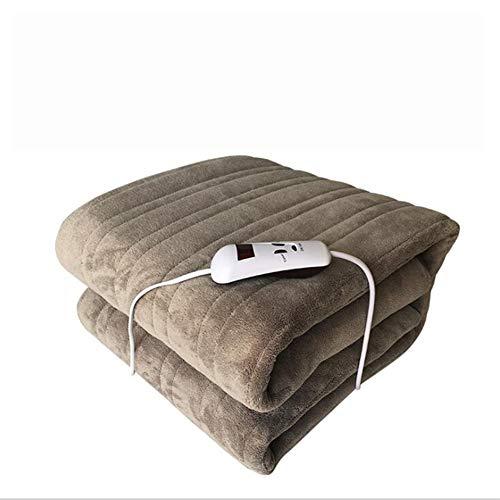 NACHEN verwarmingsdeken Double Single Control Coral Fleece wasbaar 220V huishoudverwarmingsmat 180X150cm, grijs