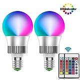 LED Glühbirne RGB 10W E27 Farbige Leuchtmittel Dimmbare Farbwechsel Lampe