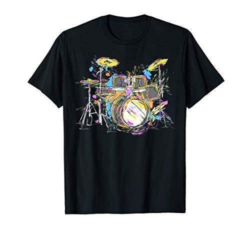 Abstract art drums musician music band throne noose T-Shirt