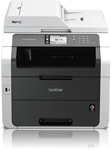 Brother MFC-9332CDW Kompaktes 4-in-1 Farb-Multifunktionsgerät (Drucken, scannen, kopieren, faxen, A4, 22 Seiten/Min., 2.400x600 dpi, LAN, WLAN, Duplexdruck, ADF, Print AirBag für 150.000 Seiten)