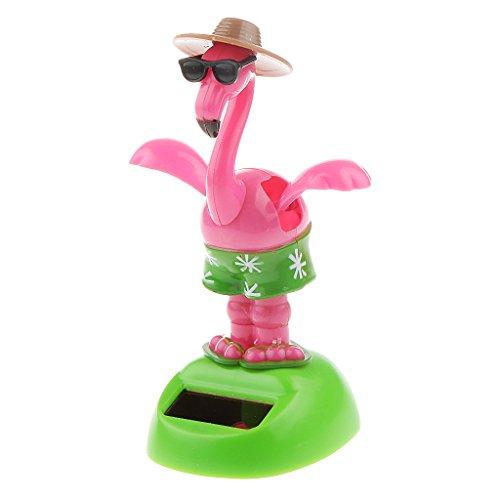joyMerit Flamingo Solar Wackelfigur für Auto Haus Büro Dekor