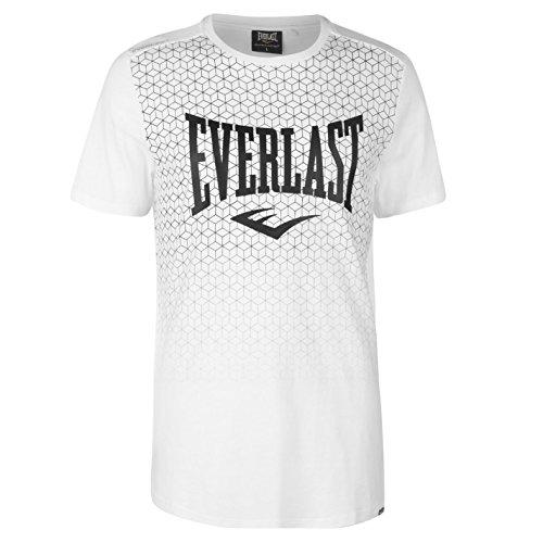 Everlast Herren T Shirt Kurzarm Rundhals Geometrisches Print Weiß Geo 2XL