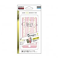 LEPLUS iPhone7 4.7インチ ガラスフィルム 「GLASS PREMIUM FILM(グラス プレミアムフィルム)」 全画面保護 Design+(デザインプラス) Flower ピンク04 0.33mm