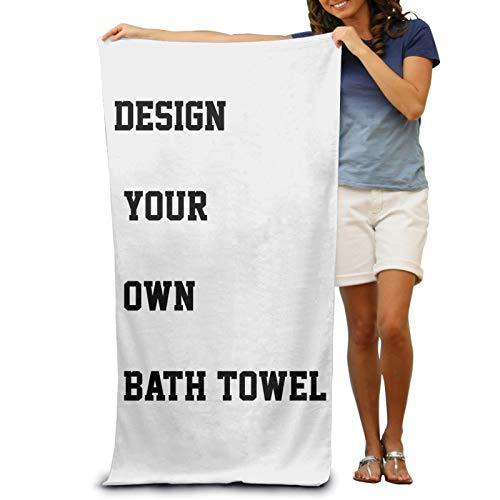 Benutzerdefinierte Badetuch mit Namen Personalisiertes Foto oder Textbild DIY-Druck Benutzerdefinierte Dusche Bad / Strandtuch 80 x 130 vertikale Version