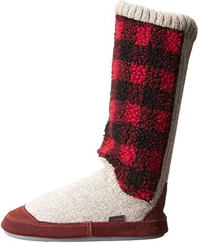 Acorn womens Slouch Boot Slipper, Buffalo Check, 9.5-10.5 US