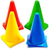 12 Cônes de Signalisation Multicolores, Cônes de Circulation, Cones de Sport, 23cm...