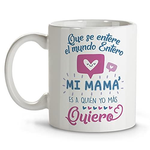 LolaPix Taza mamá. Regalos Originales. Tazas Desayuno Originales. Varios diseños. MAMÁ Quiero