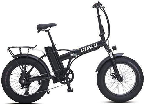 Woodtree Bicicleta eléctrica Nieve 500W 20 Bicicletas de montaña Plegable Pulgadas con...