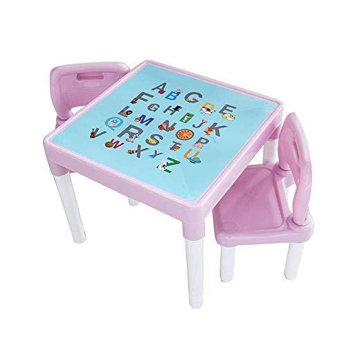 AJH Stuhl und Tisch Möbel Set Premium Kinder Tisch und Stühle Set für Zuhause Plastik Set Home Baby Lernen Schreibtisch Spielzeug Spieltisch EIN Tisch und Zwei Stühle