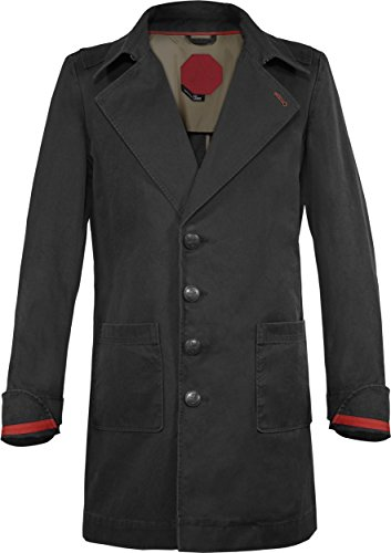 Musterbrand Assassin's Creed Trench-Coat Mantel Herren Cormac Jacke Schwarz XS