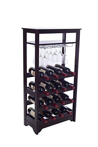 espresso brown wine tower - 1