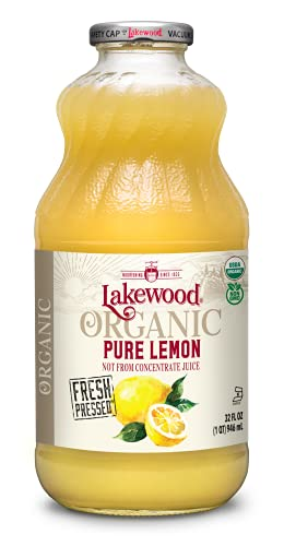 Lakewood USDA Organic Pure Lemon Juice, Not From Concentrate, Non...