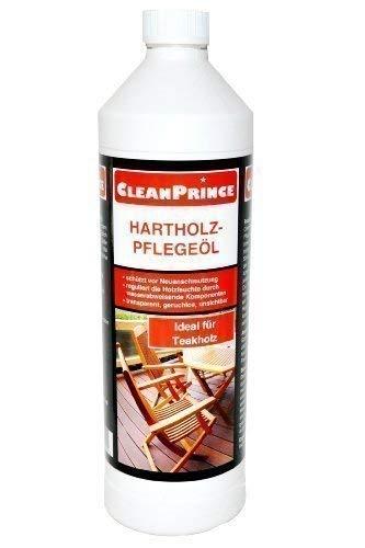 CleanPrince Hartholz-Pflegeöl 1000 ml Holz Teakholz Bankirai Hartholzöl Holzöl