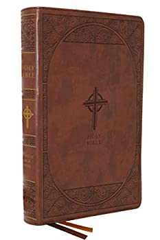 NABRE New American Bible Revised Edition Catholic Bible Large Print Edition Leathersoft Brown Comfort Print  Holy Bible