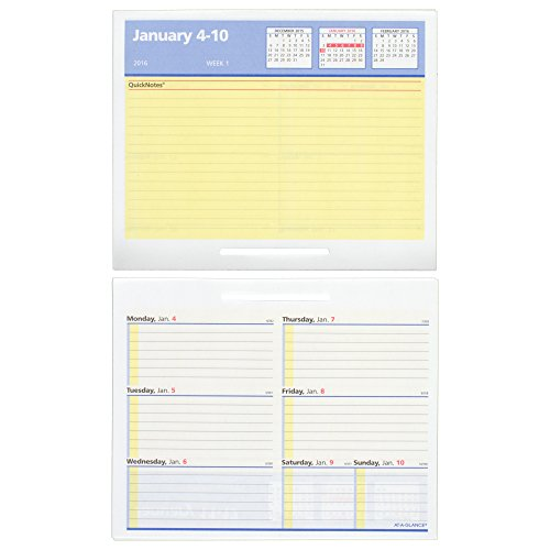AT-A-GLANCE Desk Calendar Refill 2016, Burkhart's Day Counter, Financial, Recycled, 4-1/2 x 7-3/8 Inches (E712-50)