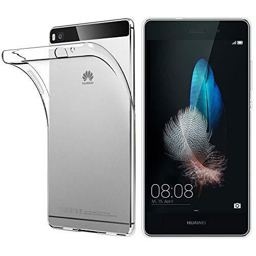 ebestStar - Funda Compatible con Huawei P8 Lite Carcasa Silicona, Protección Crystal Clear TPU Gel, Ultra Slim Case, Transparente [Aparato: 143 x 70.6 x 7.7mm, 5.0'']