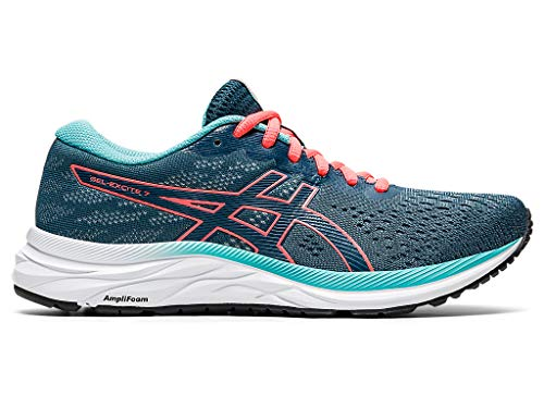 ASICS Women's Gel-Excite 7 Running Shoes, 9, Magnetic Blue/Sunrise RED