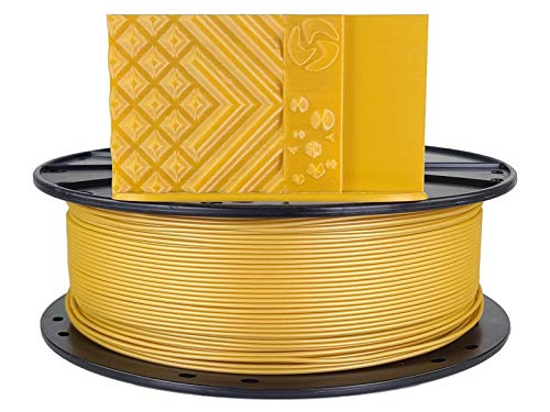 3D Fuel Standard PLA 3D Printing Filament, Made in USA with Dimensional Accuracy +/- 0.02 mm, 1 kg 1.75 mm Spool (2.2 lbs) in Metallic Gold