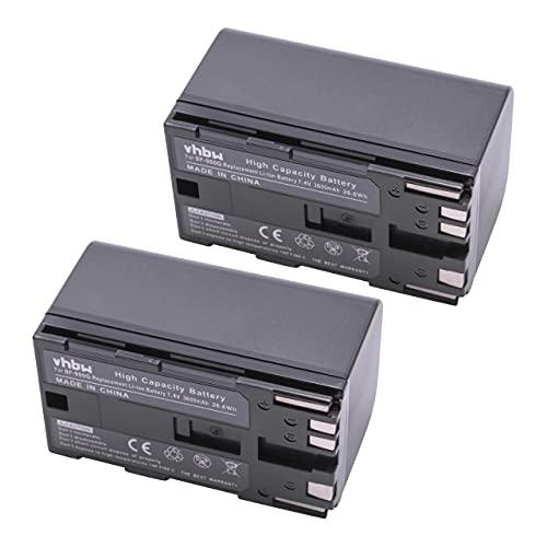 2 x Li-Ion baterías 2600mAh (7.4 V) Apta para Canon EOS C300, XF105, XL2, XM2 etc. Sustituye batería Tipo: BP-950G, BP-925, BP-955, BP-975.