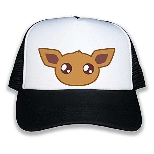 Casquette trucker noire Noctali Pokemon chibi et kawaii by Fluffy chamalow Chamalow shop