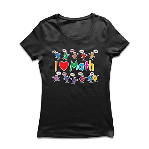 lepni.me Camiseta Mujer Amo Las matemáticas, el Regalo Educativo de Regreso a la Escuela o la graduación