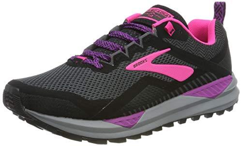 Brooks Cascadia 14, Zapatillas de Running Mujer, Negro Rosa, 42 EU