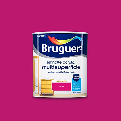 Bruguer Acrylic Multisuperficie Esmalte al agua Satinado Fucsia 750 ml