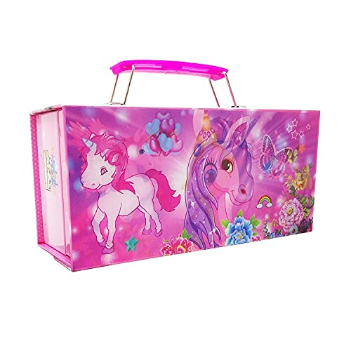 PARTEET Polycarbonate 3D Password Protected Jewellery Box Cum Utility Box for Girls (Assorted Colour)