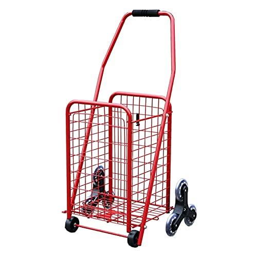 Carro de compras portátil Carrito de la utilidad de compras plegable, carrito de compras plegable con ruedas para la lavandería de la lavandería viajes de equipaje Carrito de compras plegable
