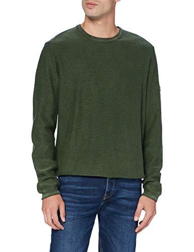 camel active Herren 4095284K2838 Pullover, FIR Green, 4XL