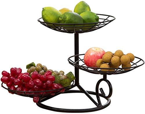 WWWXD Bandeja de Fruta, de Tres Capas secas del Plato de Fruta Sala Caramelo Snacks Cesta de Frutas secas Cocina for Guardar la Cesta 32x26.5x25cm Rack de Almacenamiento del Cuenco de Fruta