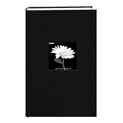 Fabric Frame Cover Photo Album 300 Pockets Hold 4x6 Photos, Deep Black