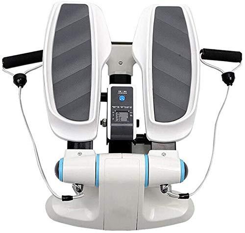 HMBB Entrenadores elípticos, entrenamiento cardiovascular Step Fitness Home Elíptica Step Machine con bandas de resistencia y monitor LCD